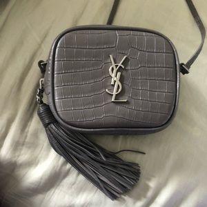 Authentic Saint Laurent gray crossbody blogger bag